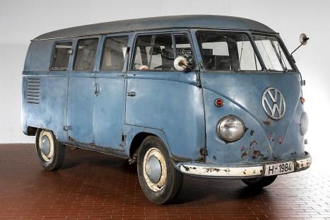 Die Front des nach 54 Jahren entdeckten VW T1 Radarmesswagen. Foto: Auto-Medienportal.Net/Volkswagen