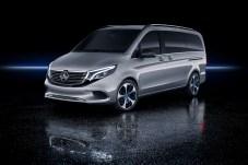 Die Studie EQV Concept kommt der Serienversion des künftigen Elektro-Kastenwagens von Mercedes schon ziemlich nahe. © Daimler
