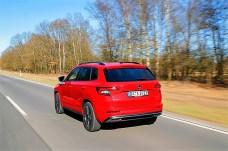 Exklusiv vorbehalten bleibt dem Karoq Sportline der 190 PS starke 2.0 TSI-Motor mit Handschaltung und Frontantrieb. © Skoda