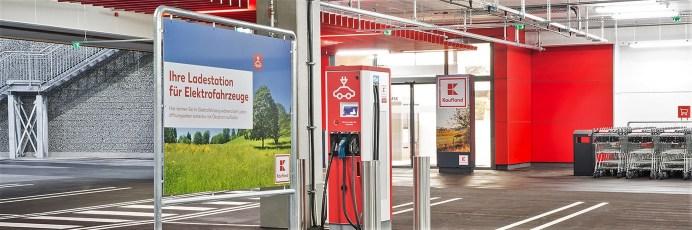 Strom tanken bei Kaufland. Foto: Auto-Medienportal.Net/Kaufland