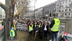 Demonstration an einer Münchener Messstation gegen Diesel-Fahrverbote. Foto: Auto-Medienportal.Net/Mobil in Deutschland