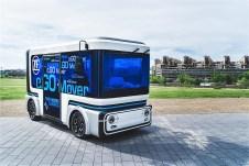 Ab 2019 produziert das Joint Venture von ZF und der Ego Mobile autonom und elektrisch fahrende People und Cargo Mover. Foto: Auto-Medienportal.Net/ZF