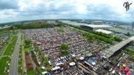 Östlich von A 37 und Messegelände steigt wieder das MaiKäferTreffen. (VW-Luftbild)