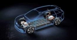 Der ID. Roomzz wird von zwei Elektromotoren angetrieben. Der vordere Koaxialantrieb entwickelt 102 PS (75 kW), der hintere leistet 204 PS (150 kW), zusammen also 306 PS (225 kW). Foto: Auto-Medienportal.Net/Volkswagen