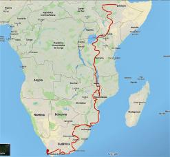 Alicia Sornosas Route durch Ostafrika.