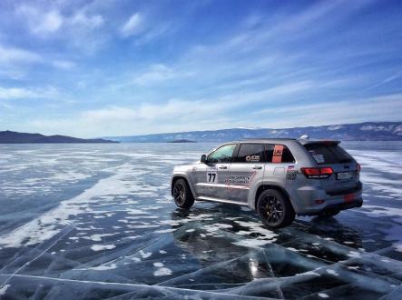 Die Höchstgeschwindigkeit auf Eis betrug laut GPS-Tracker 280 Kilometer pro Stunde. © Jeep