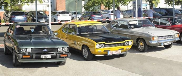 """Einmal Capri, immer Capri - Fans des Sportwagenklassikers besuchen mit ihren automobilen Lieblingen die Ford-Werke / 50 Jahre alt und kein bisschen altmodisch: der Ford Capri 1700 GT aus dem Jahr 1969. © obs/Ford-Werke GmbH"""""""