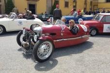 Eine Rarität: Morgan 3-Wheeler Super Sports von 1934. Kathrin Zierhut und Florian Kunz pilotieren den Oldtimer beim Gaisberg-Rennen 2019. © Jutta Bernhard / mid