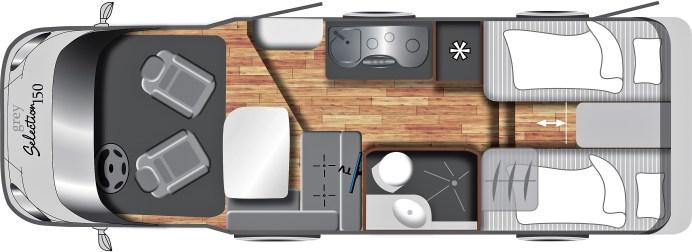 Grundriss LMC Grey Selction 150. Foto: Auto-Medienportal.Net/LMC