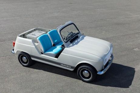 Er ist wieder da: der R4 oben ohne - jetzt als elektrisch angetriebenes Showcar. © Renault