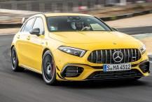 Ganz in Gelb macht der A45 wirklich eine gute Figur: Die Farbe setzt sich innen bei den Leder-Applikationen fort. © Daimler