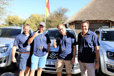 Spirit of Amarok Teilnehmer aus Deutschland von links nach rechts: Norman Nielsen, Stefan Dietz, Christian Ziegler, Thorsten Gotthardy. © Stephan Lindloff / Volkswagen