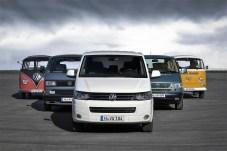 Volkswagen Bulli: Fünf Generationen. Foto: Auto-Medienportal.Net/Volkswagen