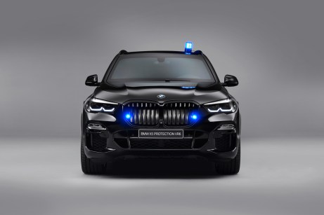 Der Sicherheits-X5 wird auf Wunsch auch mit Blaulicht-Anlage ausgeliefert. © BMW