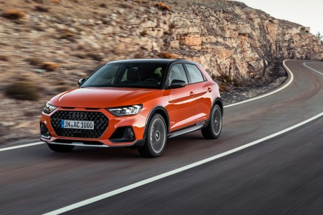 Audis putzmunterer Mini-Crossover: der A1 Citycarver. © Audi