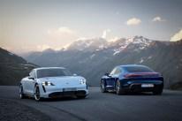 Angeboten wird der knapp 2,3 Tonnen schwere Taycan in den beiden Leistungsstufen Turbo und Turbo S. © Porsche