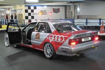 So einen Audi V8 quattro DTM pilotierte Tourenwagen-Legende Hans-Joachim-Stuck.