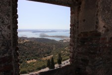 Blick aus der Festung von Monsaraz auf die Seenlandschaft an der Grenze zu Spanien. © Kurt Sohnemann