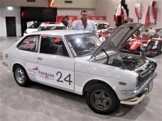 Hilfe für Krebskranke unterstützt Bart Alenteyns aus Belgien mit seinem Toyota Publica.