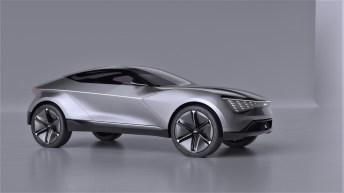 Kias SUV-Coupé, das einen Ausblick auf das Design künftiger Elektrofahrzeuge der Marke gibt. © Kia