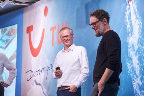 Stefan Baumert, touristischer Geschäftsführer, TUI Deutschland im Gepräch mit Marek Andryszak, Vorsitzender der TUI Deutschland Geschäftsführung. © TUI