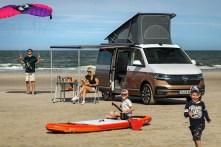 Urlaub auf Rädern: Seit 2015 wird die sechste Generation des Bulli produziert. Das Bild zeigt den California 6.1. © Volkswagen