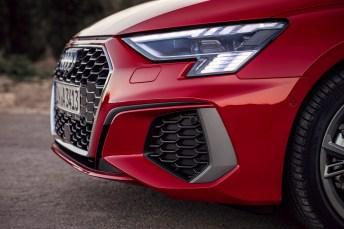 Der neue A3 Sportback legt mit seinem nachgeschärften progressiven Design einen starken Auftritt im Kompakt-Segment hin. © Audi
