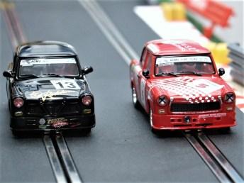 Renn-Trabis von Revell auf der Scalextric-Bahn (Archivfoto). Foto: Auto-Medienportal.Net/Jens Riedel