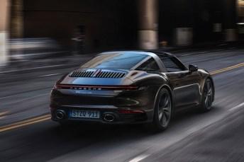 Der Boxer-Motor im Porsche Targa 4S leistet 450 PS und beschleunigt den Sportwagen in 3,6 Sekunden auf 100 km/h. © Porsche
