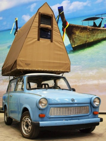 Base Camp: Trabant mit Dachzelt. Foto: Auto-Medienportal.Net/Base Camp