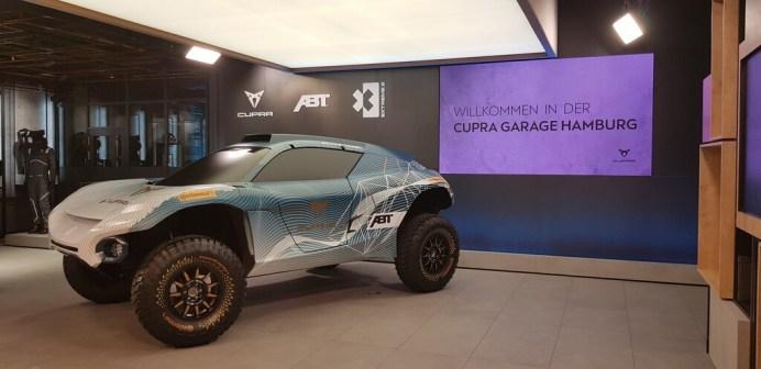 """Cupra Garage"" in Hamburg: Extreme-E-Showcar. Foto: Auto-Medienportal.Net/Frank Wald"