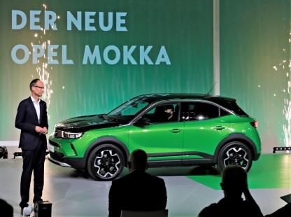 """""""Mit dem Mokka haben wir Opel quasi neu erfunden,"""" sagt Opel CEO Michael Lohscheller bei der Vorstellung des neuen Mokka. © Opel"""