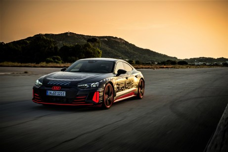Ein Bild von einem Gran Turismo: Der Audi RS e-tron GT ist eng mit dem Porsche Taycan verwandt. © Audi