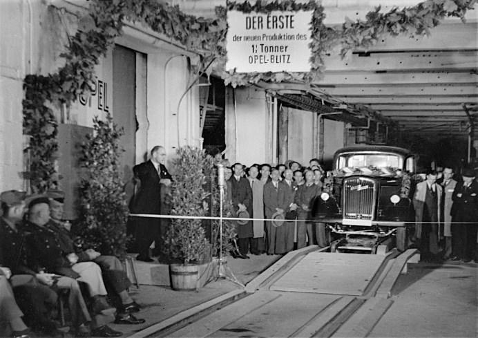 Der erste Opel-Blitz (1,5-to) nach dem Krieg. Foto: Opel