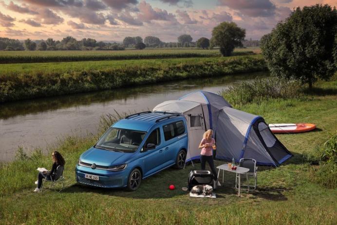 Campingspaß mit dem neuen Caddy California. © VWN