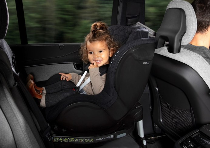 Im Falle des Unfalls ist das Kind vor Verletzungen gut geschützt. © Volvo