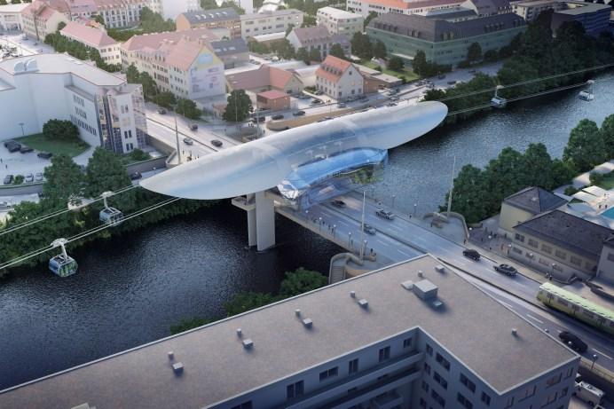 Über dem Stau: So könnte eine Seilbahn in der Stadt aussehen. © Drees & Sommer SE