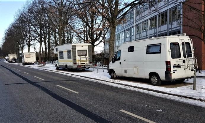 Parkende Wohnmobile. Foto: Auto-Medienportal.Net/Frank Wald