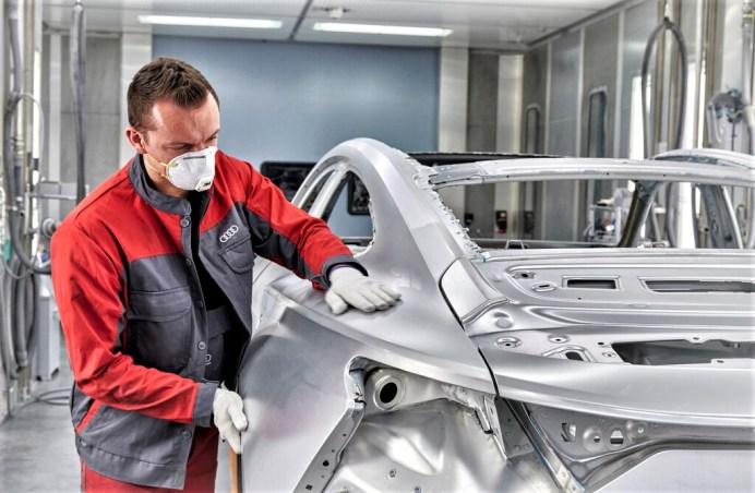 Audi e-Tron GT: Es dauerte in der Entwicklung viele Wochen, bis die hintere Flanke in Aluminium ausgeformt war und stabil hergestellt werden konnte. Foto: Auto-Medienportal.Net/Audi