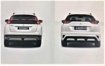 Das Heck. Links alt, rechts neu. © Mitsubishi