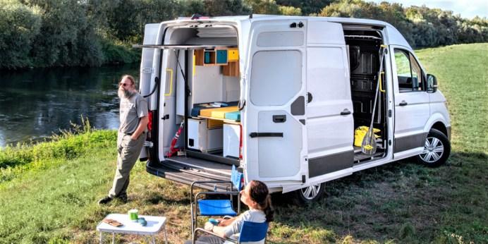 Die PlugVan-Module sind für Transporter und Kastenwagen der 3,5-Tonnen-Klasse wie den VW Crafter (im Bild), den Mercedes Sprinter, den Ford Transit oder den Iveco Daily konzipiert. © PlugVan