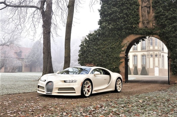 Einzelstück: Bugatti Chiron habillé par Hermès. Foto: Auto-Medienportal.Net/Bugatti