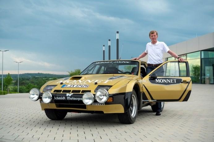 Walter Röhrl und der Porsche 924 Carrera GTS Rallye von 1981. Foto: Auto-Medienportal.Net/Porsche