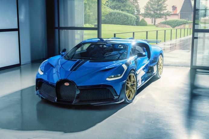 Blauer Blitz: Der Letzte der auf 40 Exemplare limitierten Divo. © Bugatti