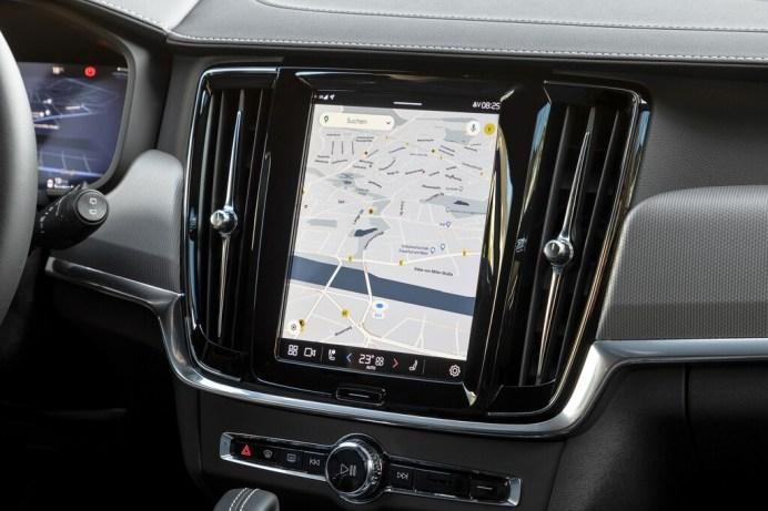 Volvo XC60, Touchscreen mit Google-Infotainment. Foto: Autoren-Union Mobilität/Volvo