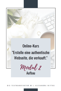Modul 2 Aufbau einer authentischen Webseite