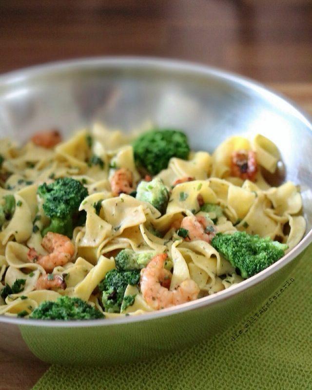 KOCHQUICKIE No. 01 * Limonen-Pasta mit Garnelen und Brokkoli*