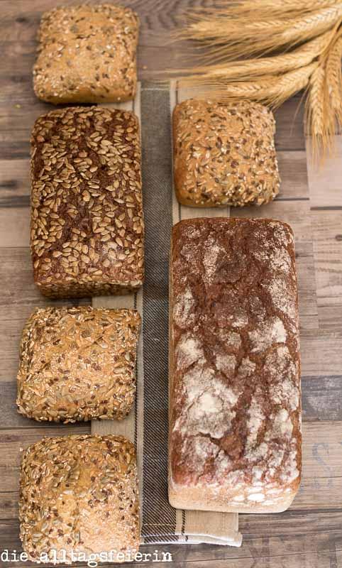 Fitnesspaket, Brot, Roggenbrot, Dinkelbrötchen, Volkorn-Fitness-Brot, Pausenbrot
