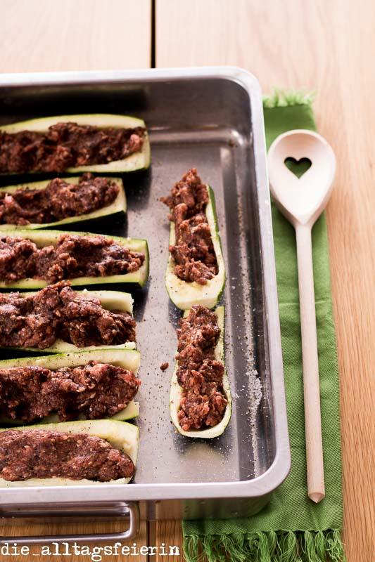 Zucchini al forno, Familienküche, kochen, schnell kochen, lecker, gesund