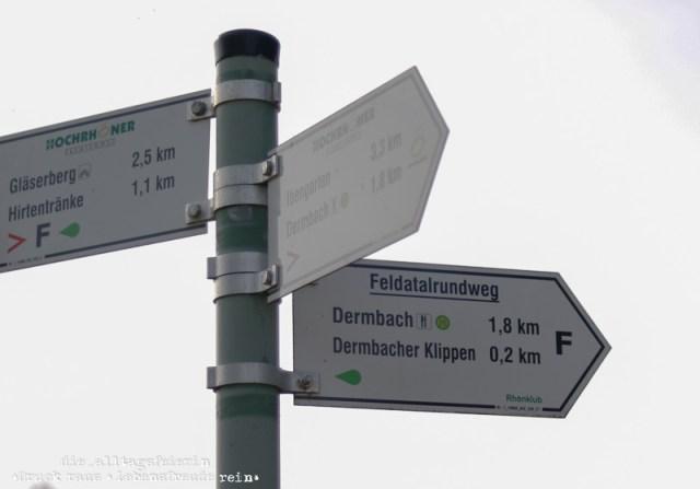 Hochrhöner, Wanderlust, wandern, Tann Rhön, Wegweiser, Dermsbach